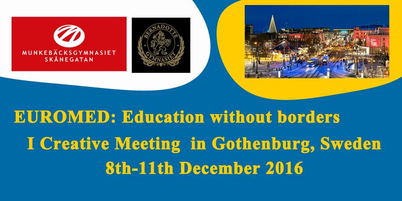 """Проект """"Евро-Мед: Образование без границ» едет в  Гётеборг в декабре 2016"""